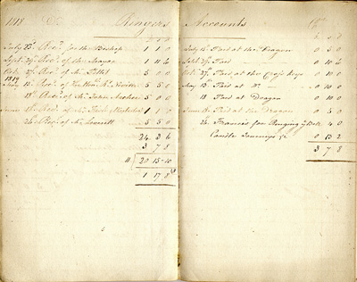 Ringers accounts for 1818-19