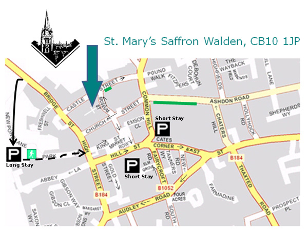 map of Saffron Walden